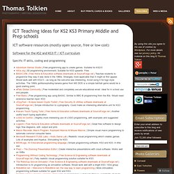 ICT Teaching ideas for KS2 KS3 Primary Middle and Prep schools | Thomas Tolkien