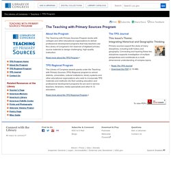 Teaching with Primary Sources Program- Teaching with Primary Sources