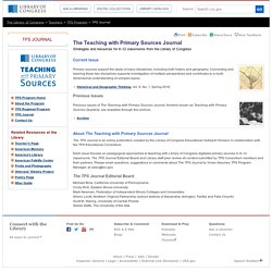 The Teaching with Primary Sources Journal- Teaching with Primary Sources