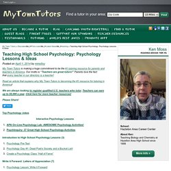 Teaching High School Psychology: Psychology Lessons & Ideas