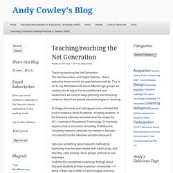 Teaching/reaching the Net Generation