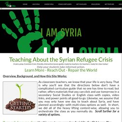 Teaching about the Refugee Crisis and Making a Difference - I AM SYRIA