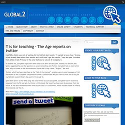 T is for teaching – The Age reports on twitter