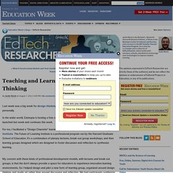 Teaching and Learning through Design Thinking - EdTech Researcher