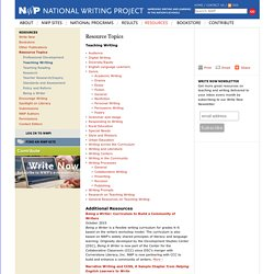 Teaching Writing - Resource Topics - National Writing Project
