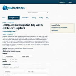 Teaching Resources - Bay Backpack