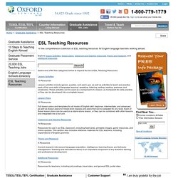 ESL Teaching Resources for English Language Teachers