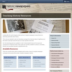 Teaching History Resources - Historic Newspapers