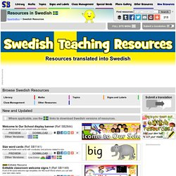 FREE Swedish Teaching Resources
