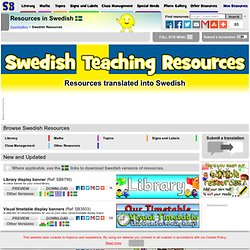 FREE Swedish Teaching Resources