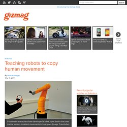 Teaching robots to copy human movement