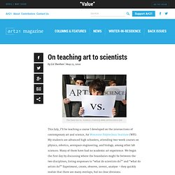 On teaching art to scientists