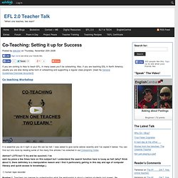Co-Teaching: Setting it up for Success