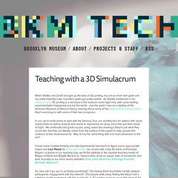 Teaching with a 3D Simulacrum