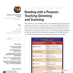 Reading with a Purpose: Teaching Skimming and Scanning – Teaching Learning Learning Teaching