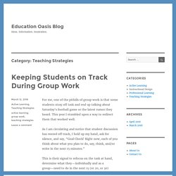 Teaching Strategies – Education Oasis Blog