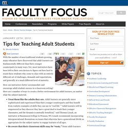 Teaching Strategies for Adult Learners