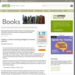 Diverse Teaching Strategies for Diverse Learners