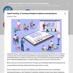 Hybrid Teaching: 12 Teaching Strategies to Optimize Learning Spaces