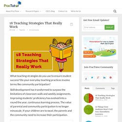 18 Teaching Strategies That Really Work - Practutor Blog
