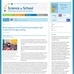 What happens next? A teaching strategy to get students of all ages talking