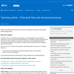 Teaching online - if the tech fails and structuring lessons
