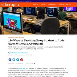 15+ Ways of Teaching Every Student to Code (Even Without a Computer)