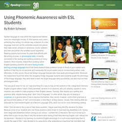 Teaching ESL Students Reading & Phonemic Awareness- Reading Horizons