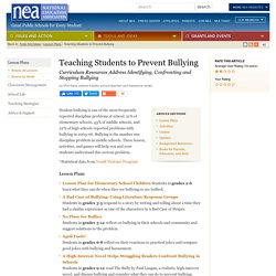 Teaching Students to Prevent Bullying