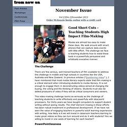 Good Short Cuts - Teaching Students High Impact Film-Making