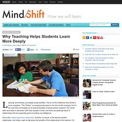 Why Teaching Helps Students Learn More Deeply