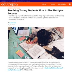 Teaching Young Students How to Use Multiple Sources