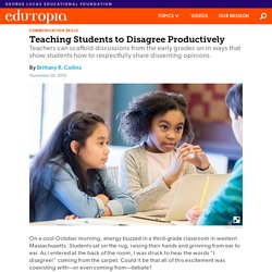 Teaching Students to Disagree Productively