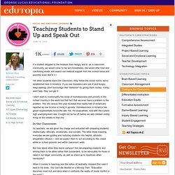 Teaching Students to Stand Up and Speak Out