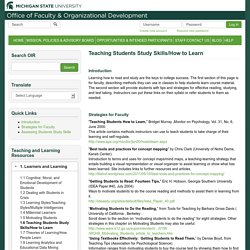 Teaching Students Study Skills/How to Learn