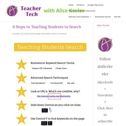6 Steps to Teaching Students to Search - Teacher Tech
