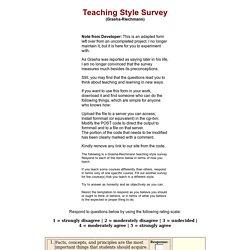Teaching Style Survey