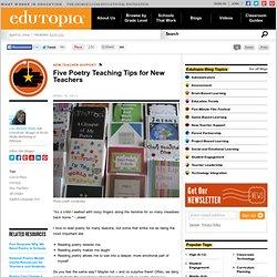 Five Poetry Teaching Tips for New Teachers