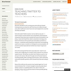 Teaching Twitter to Teachers