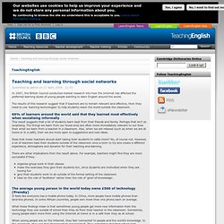 Teaching and learning through social networks