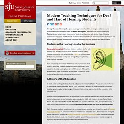 Modern Teaching Techniques for Deaf and Hard of Hearing Students