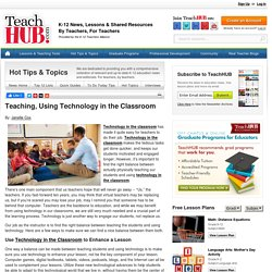 Teaching, Using Technology in the Classroom