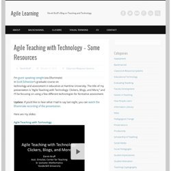 Agile Teaching with Technology – Some Resources