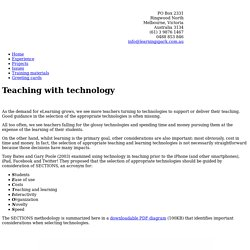 Select teaching technology with SECTIONS