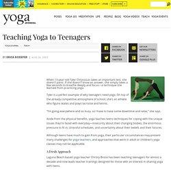 Teaching Yoga to Teenagers