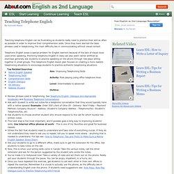 Teaching Telephone English - Telephone English Lesson Plan