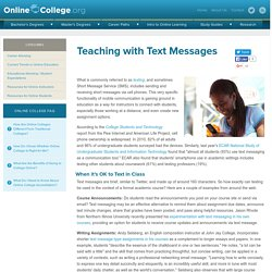 Teaching with Text Messages