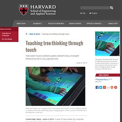 Teaching tree-thinking through touch