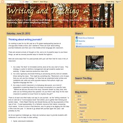 Thinking about writing journals?