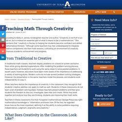 Teaching Math Through Creativity